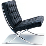 barcelona chair chrome plated  -