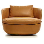 bart swivel lounge chair  - moooi
