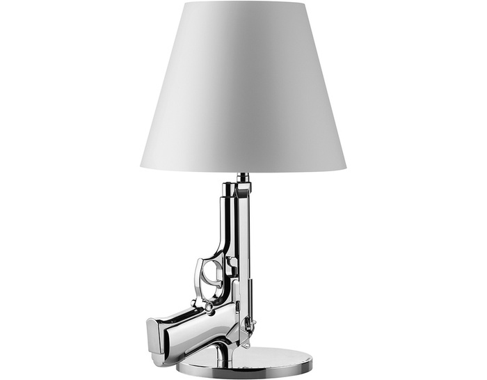bedside gun lamp. Black Bedroom Furniture Sets. Home Design Ideas