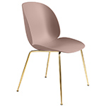 beetle dining chair with conic base  - gubi