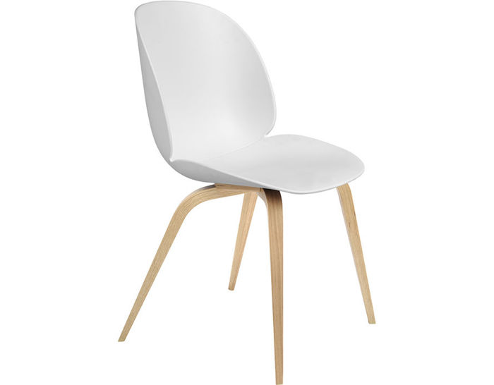 beetle dining chair with wood base