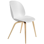 beetle dining chair with wood base  -
