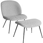 beetle lounge chair & ottoman with conic base  -