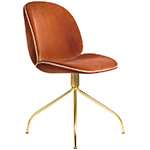 beetle upholstered dining chair with swivel base  -