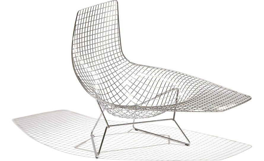 Bertoia Asymmetric Chaise Of Bertoia Asymmetric Chaise Lounge