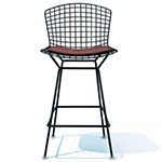bertoia stool with seat cushion