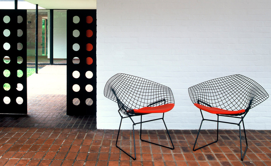 Bertoia Diamond Chair With Seat Cushion Hivemodern Com