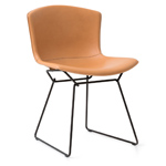 bertoia leather covered side chair  -