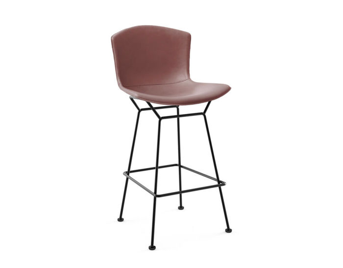 bertoia leather covered stool