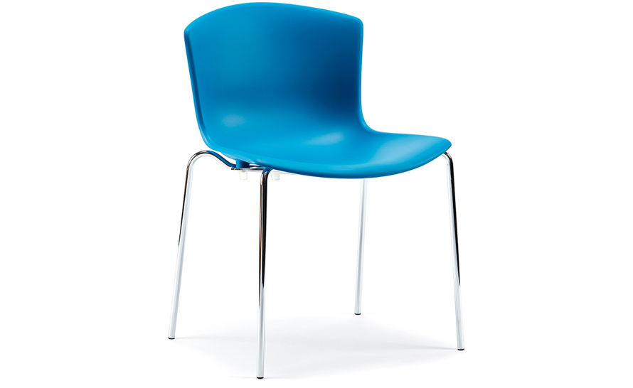 bertoia molded shell side chair with stacking base