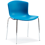 bertoia molded shell side chair with stacking base  -