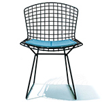 bertoia side chair with seat cushion  -
