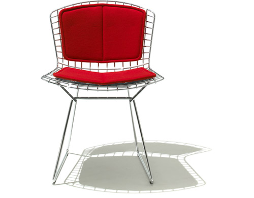 bertoia side chair with back pad & seat cushion