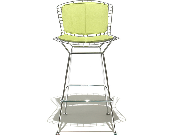 bertoia stool with back pad & seat cushion