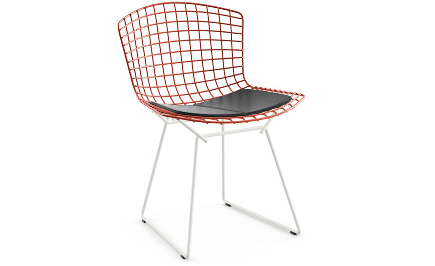 Bertoia Two Tone Side Chair With Seat Cushion Hivemodern Com
