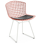 bertoia two tone side chair with seat cushion