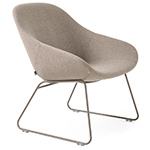 beso lounge chair with sled base  -