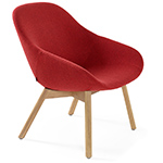 beso lounge chair with wood base  - artifort