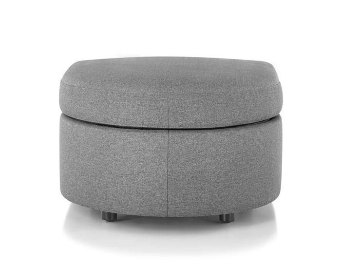 bevel rounded ottoman