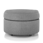 bevel rounded ottoman  - Herman Miller