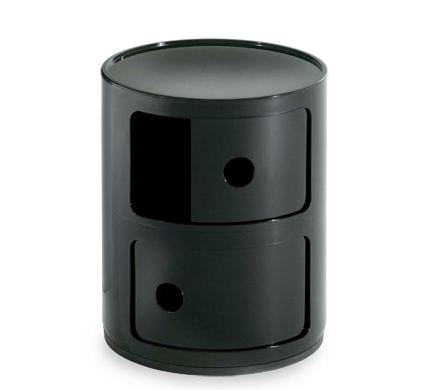 black componibili storage module