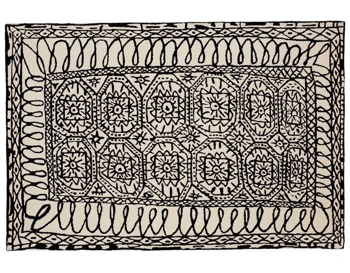 black on white collection estambul rug