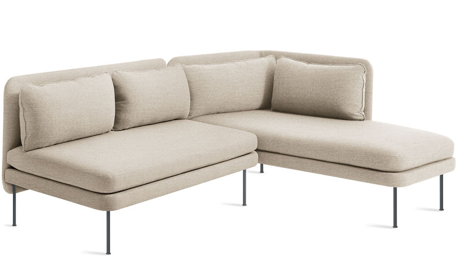 bloke armless sofa with chaise