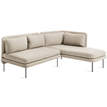 bloke armless sofa with chaise  - blu dot
