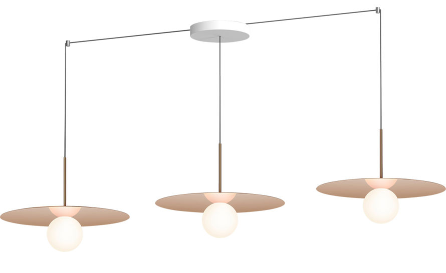 bola disc linear 3 suspension lamp