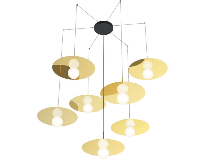 bola disc multi suspension lamp