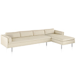 bolster 3 seat sofa with chaise  -