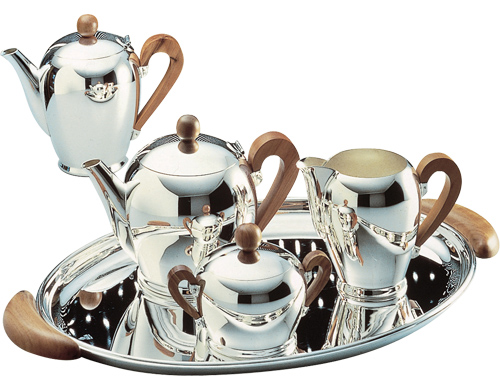 Bombé Silver Plated Tea \u0026 Coffee Service  sc 1 st  Hive Modern : silver plated tea set - pezcame.com