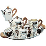 bombé silver plated tea & coffee service  -