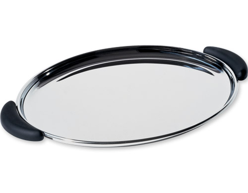 bombé oval tray with handles