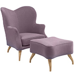 bonaparte lounge chair & ottoman  - gubi