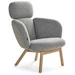 bras highback wood base lounge chair  - artifort