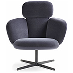 bras highback swivel base lounge chair  -