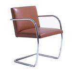 brno chair with tubular steel frame  -
