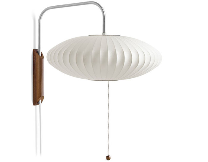 nelson™ bubble lamp wall sconce saucer