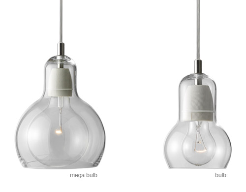 Bulb suspension lamps for Suspension 2 lampes