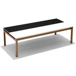 butler rectangular coffee table  - Knoll
