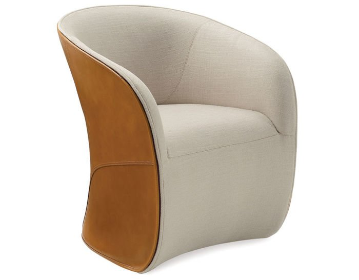 calla chair with cowhide exterior