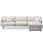 calmo 80 three seat sofa with chaise & metal base  -