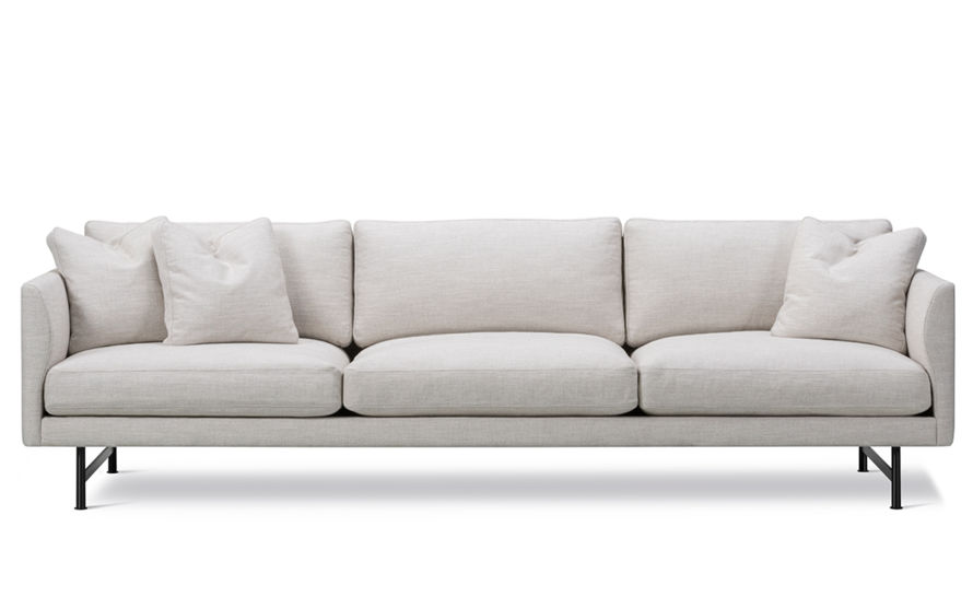 calmo 80 three seat sofa with metal base