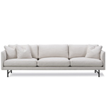 calmo 80 three seat sofa with metal base  -