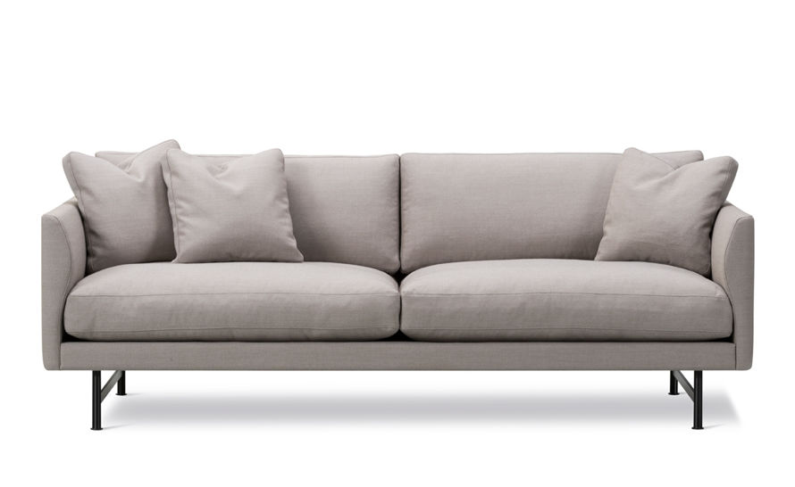 calmo 95 two seat sofa with metal base