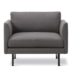 calmo lounge chair 80 with metal base  -