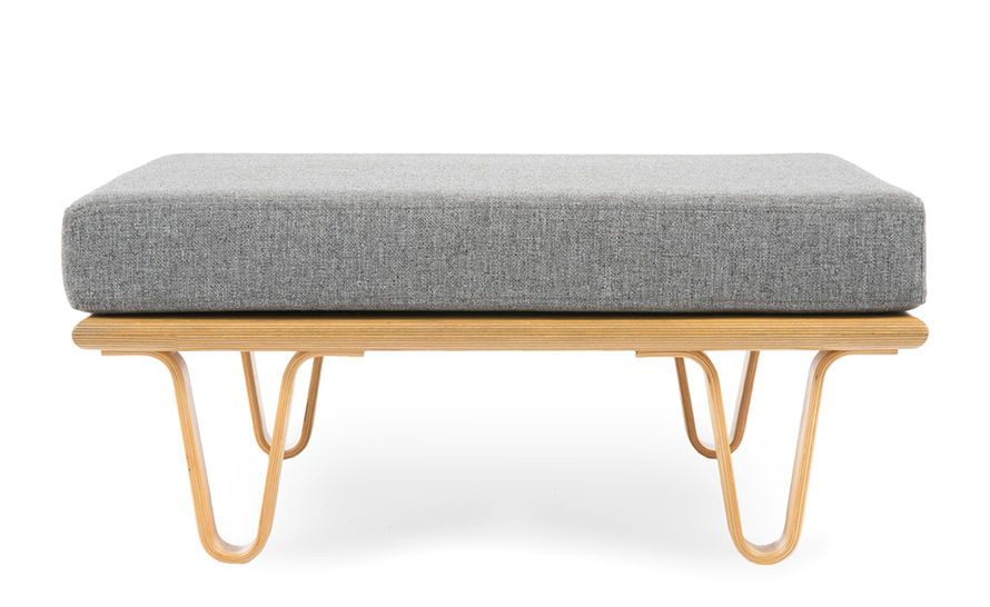 case study® bentwood daybed convertible square ottoman