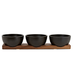 case study table top bowls with walnut base  -