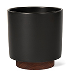 case study cylinder planter with plinth  - modernica